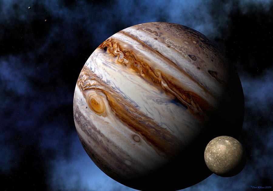 Os Trânsitos de Júpiter com os planetas e ângulos do mapa