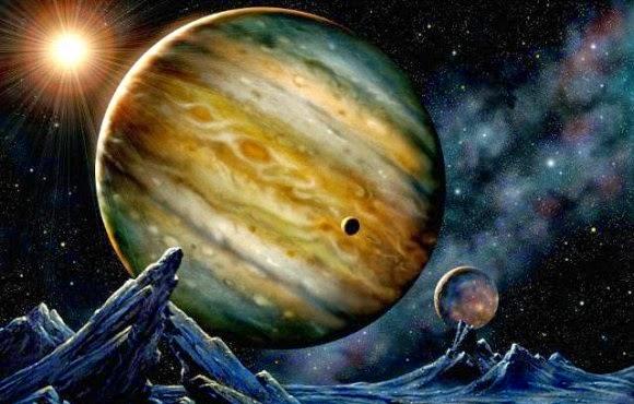 Trânsitos de Júpiter através das casas