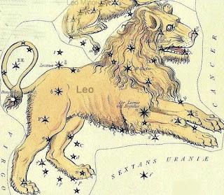 A constelação de Leo (Leão)